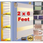 zebra blinds bidai Curtains for all type window [ 2 x 6 feet ]