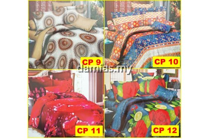 Cadar Patchwork Set 6 IN 1 / Bed Sheet [ QUEEN / KING ]