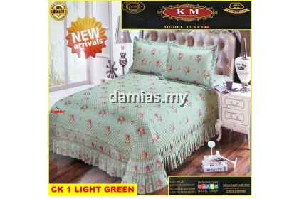 Cadar pengantin Set 6 IN 1 Bed Sheet [ SUPER COTTON TURKEY ]