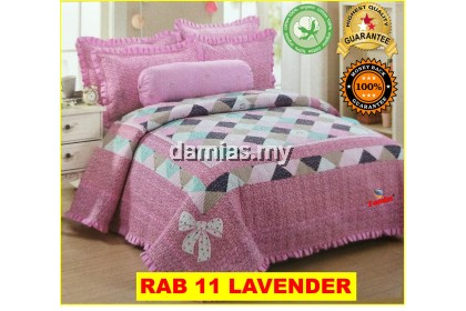 Cadar Patchwork Set 6 IN 1 / Bed Sheet King and Queen [ 100 % cotton ]
