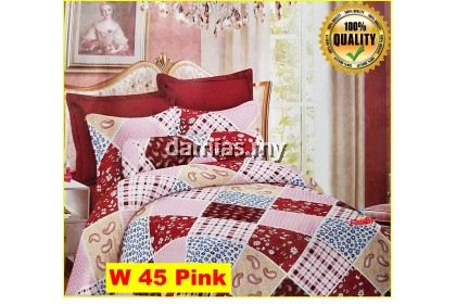 Cadar Patchwork Set 6 IN 1 / Bed Sheet VOL 5W [ SUPER QUEEN ]