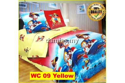 Cadar Patchwork Cartoon Set 6 IN 1 / Bed Sheet VOL 1 [ QUEEN ]