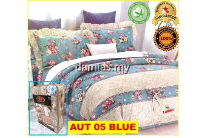Cadar Patchwork Set 6 IN 1 / Bed Sheet King and Queen [ 100 % cotton ] AUT 1