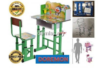 Study Table and Chair Kid Set with Cartoon Theme [ MEJA BELAJAR ]