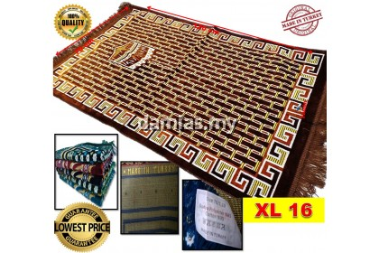 Sejadah Turki Turkey Prayer Mat sulam 120 cm x 70 cm x 6mm [ XL ]