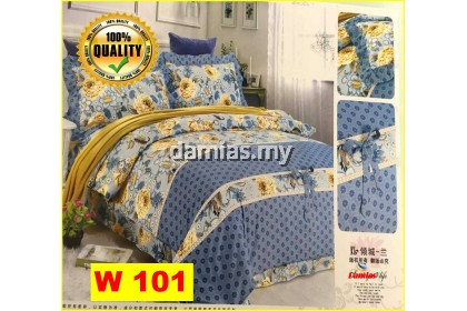 Cadar Patchwork Set 6 IN 1 / Bed Sheet King and Queen [ 100 % cotton ] WALI 1