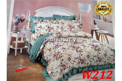 Cadar Patchwork ROPOL Set 6 IN 1 / Bed Sheet King and Queen [ 100 % cotton ] WALI 2