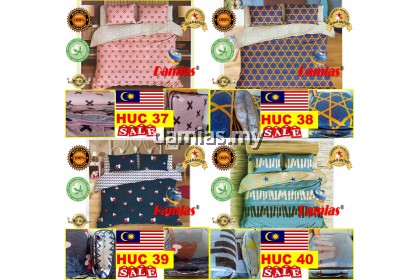 CADAR SET 6IN1 PATCHWORK 100% COTTON QUEEN SIZE HU2 [ READY STOCK ]