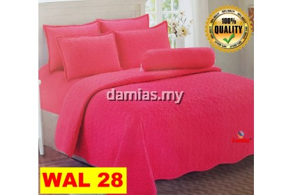 CADAR SET 6IN1SOLID COLOUR 100% COTTON QUEEN SIZE WAL [ READY STOCK ]