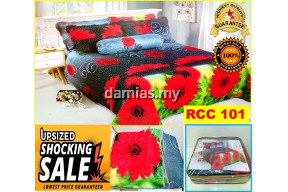 Cadar Patchwork Set 6 IN 1 / Bed Sheet Queen [ LATEST DESIGN ] RCC