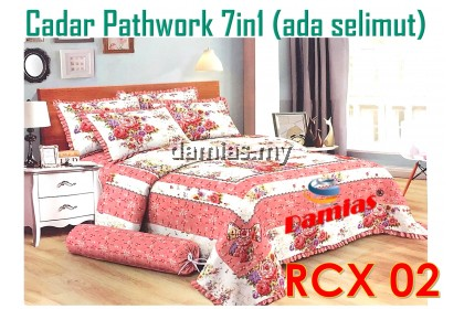 Cadar Patchwork 7 in 1 bedding set (100% cotton) ADA SELIMUT