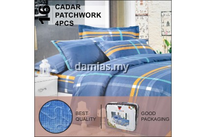 Cadar Patchwork Set 4 IN 1 WW / Bed Sheet VOL 1 [ SUPER SINGLE ADA SELIMUT]