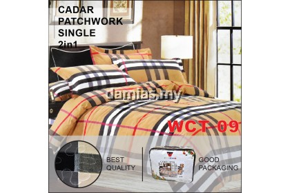 Cadar Patchwork single Set 2 IN 1 WCT / Bed Sheet VOL 4 [ SUPER SINGLE]