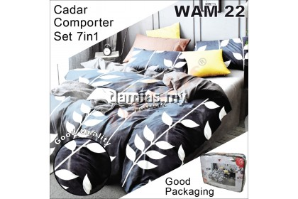 Cadar Set 7 IN 1 WAM 2 / with COMFORTER (BLANKET) + Bed Sheet [ SUPER QUEEN ]