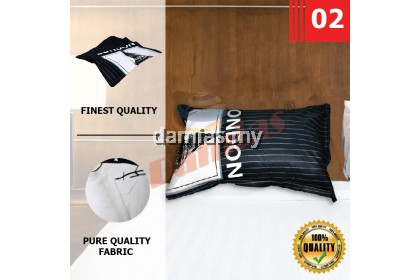 Sarung Bantal Cotton Zip Berkualiti / Pillow Case 100 % COTTON (LELONG)