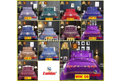 CADAR PATCHWORK 100 % COTTON SET 6IN1 SUPER QUEEN WW [DAMIAS]