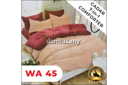 Cadar Set 7 IN 1 PLAIN / with COMFORTER KOD WA 40