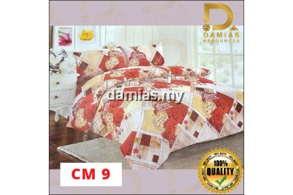 Bed Sheet Cadar QUEEN CM Patchwork Set 3 IN 1 TEBAL SIRI 11