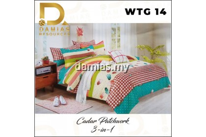 3-IN-1 lelong!!!! lelong!!!! BEDSHEET QUEEN SIZE 3-IN-1 CADAR QUEEN PATCHWORK