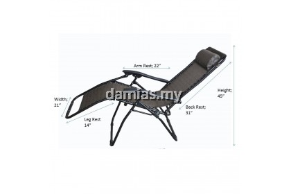 KERUSI MALAS / LAZY CHAIR ZERO GRAVITY FOLDABLE RECLINING CHAIR XXL