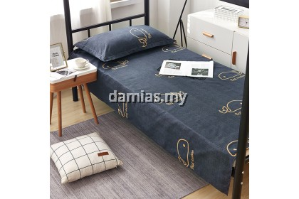 cadar Single fitted bedsheet cotton 480 thread count 2in1 set