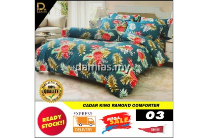 Cadar King / super queen Set 8 in 1 With comforter RAMONDs Bed Sheet PREMIUM BOXIN