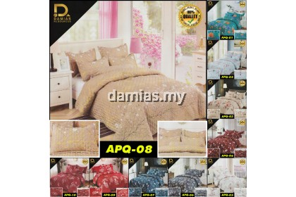 Cadar Ainul Mardiah Patchwork 6 In 1 Size Queen Anti Kedut High Quality 6 in 1 Set (Ready Stock)