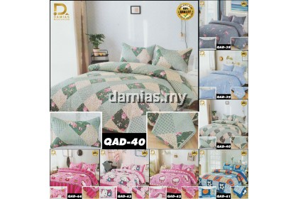 Cadar Patchwork 3 in 1 Aizhuo FREE Bag Simpanan BedSheet flamingo /Hello Kitty /Flowers