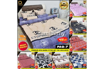 Premium Cadar Afiq Amirul New Collection Premium Saiz Queen Set 7 in 1 Exclusive Promosi Ready Stock