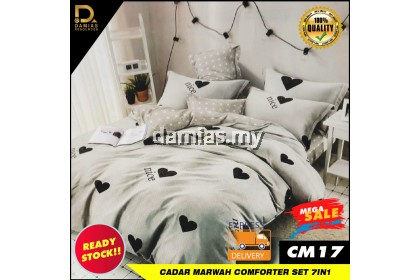 Cadar Marwah Collection Comforter Set 7 in 1 Fine Fabric 100% Ready Stock Exclusive