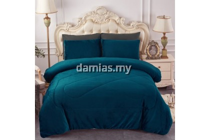 Cadar Hotel Set with Comforter Tebal Bedsheet Size QUEEN / KING (SHIP FROM MALAYSIA)