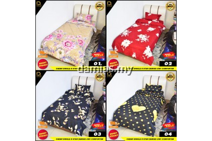Cadar Single Bujang 8 STAR Set 4 in 1 With Comforter Limited Edition Exclusive Premium Set
