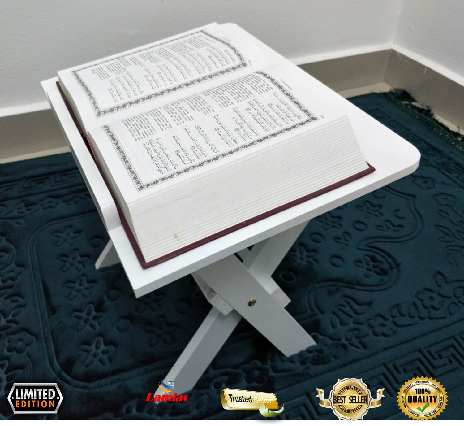 Rehal kayu Quran Holder Book Stand Rihal Wooden [ Large ]