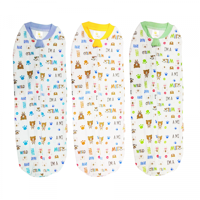 Canoly Instant Baby Swaddle (Bedung) - Teddy
