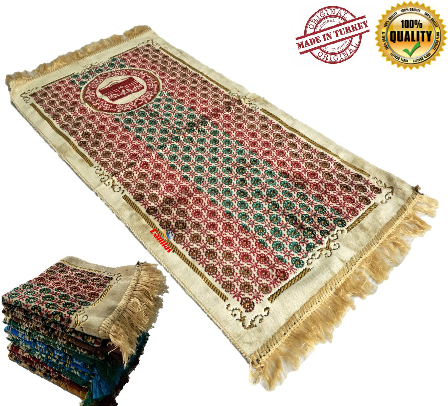 Sejadah Turki Turkey Prayer Mat sulam 112 cm x 53 cm x 4mm