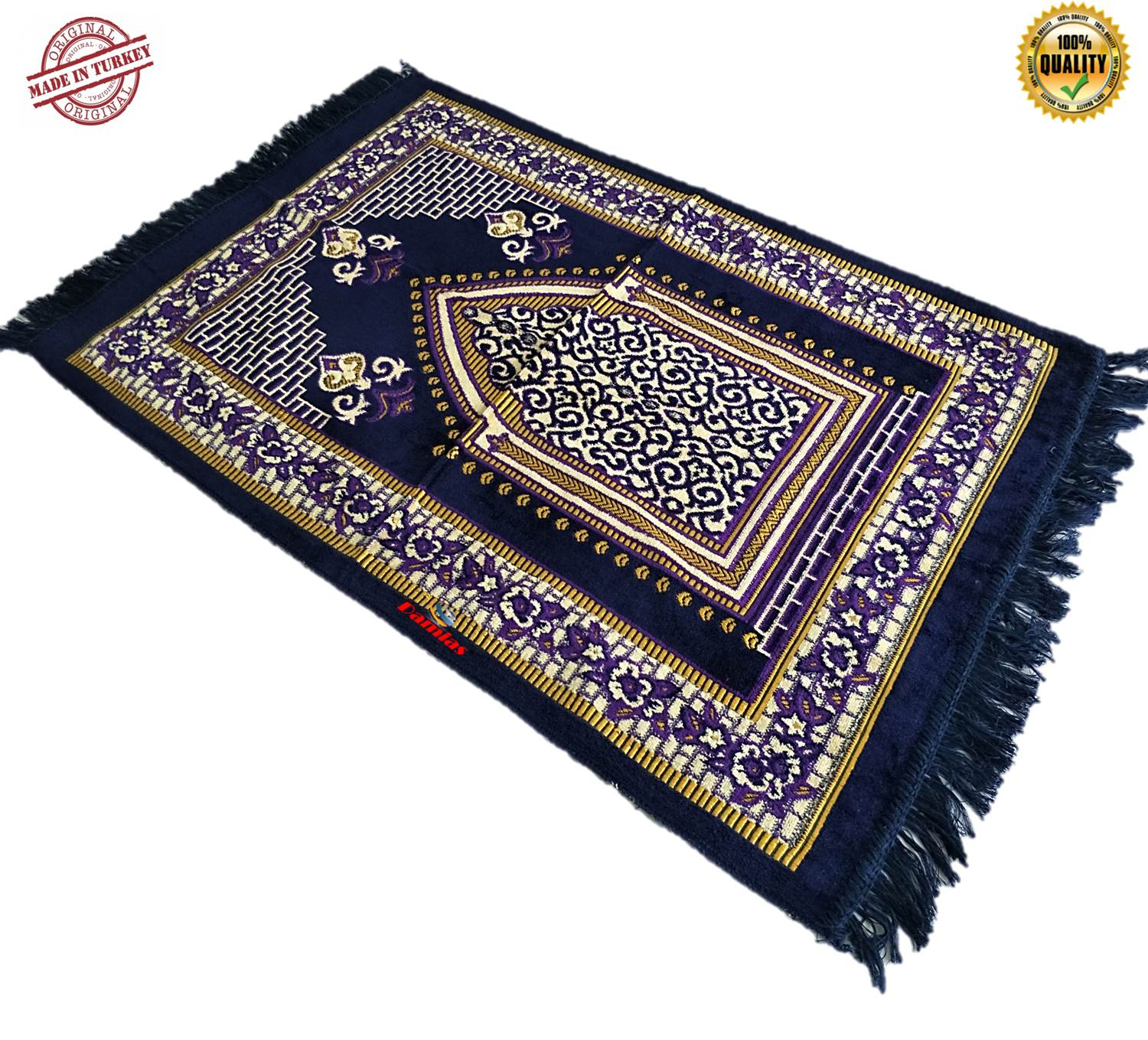 Sejadah Turki Turkey Prayer Mat sulam 120 cm x 72 cm x 5mm