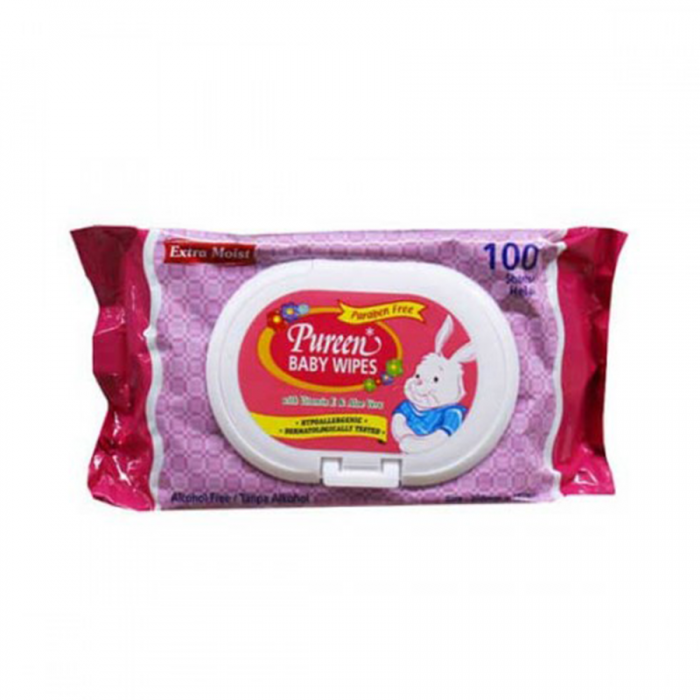 Pureen Baby Wipes 100s\' Pink