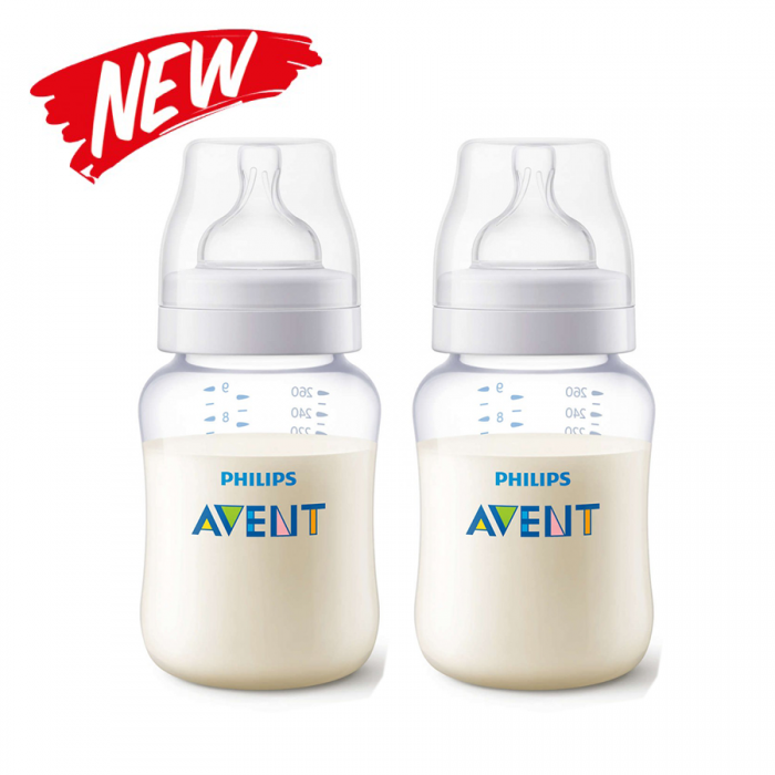 Philips Avent Classic+ PA Clear Bottle 9oz 260ml Twin Pack