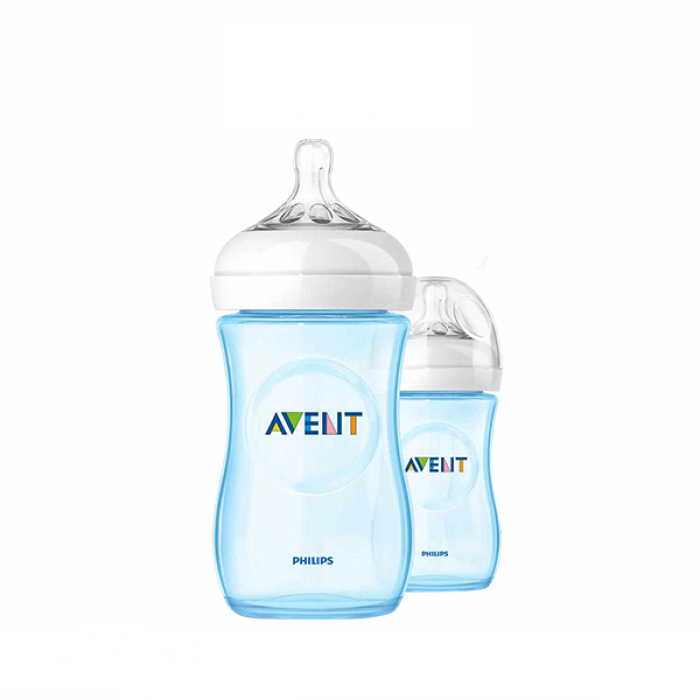 Philips AVENT Natural 260ml (9oz) Special Edition (Blue) Twin Pack