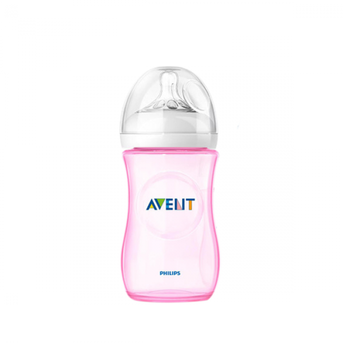 Philips AVENT Natural 260ml (9oz) Special Edition (Pink) x 1 (Loose - No Box)