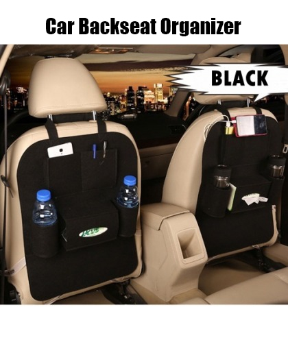 Car Backseat Organizer food storage bag (black)