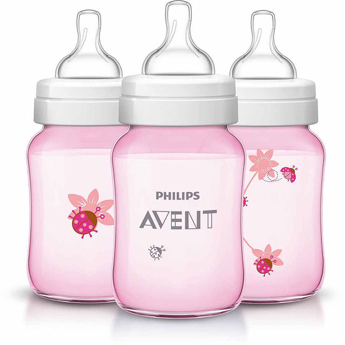 Philips Avent Special Edition Classic Plus Bottle 9oz260ml Pink Deco Lady Bug (Single Pack)