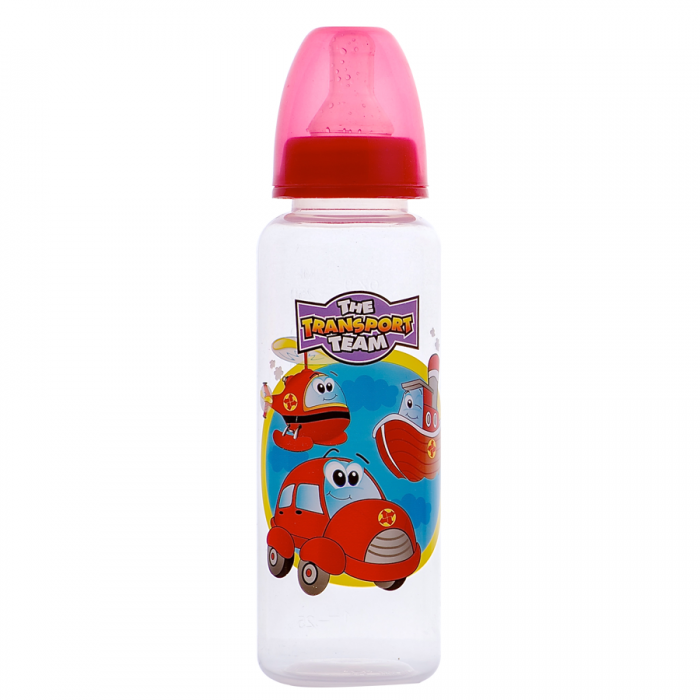 Tinee Minee - Feeding Bottle 250ml Cars - Red