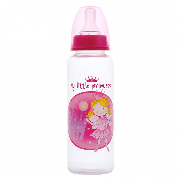Tinee Minee - Feeding Bottle 250ml Princess - Pink