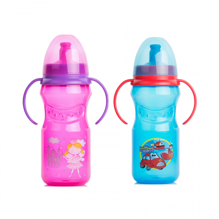 Tinee Minee - Spill Proof Sipper Cup 370ml  12oz (Blue  Pink)