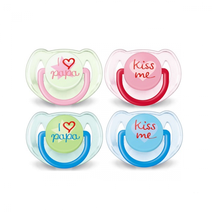 Philips AVENT Classic Soother 6-18m Twin Pack - I Love Papa