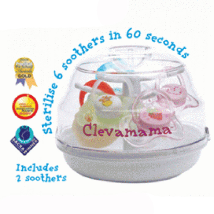 Clevamama Soother Tree Steriliser - 2 FREE Orthodontic Soothers