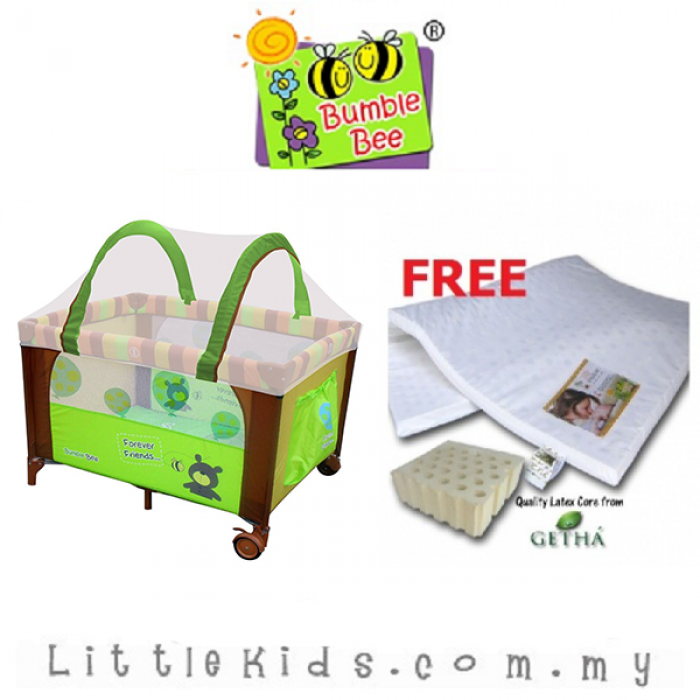 Bumble Bee (Forever Friends) 2 Levels Bassinet Playpen + FREE GIFT (Extra Delivery Charge Required)