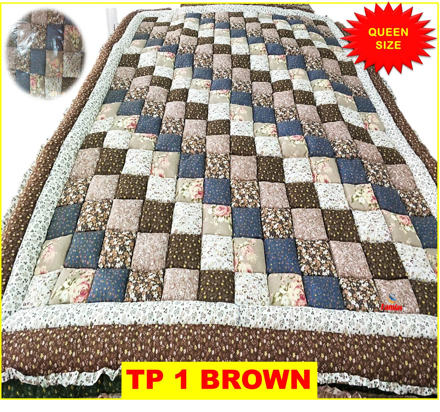 TOTO PATCHWORK SIZE QUEEN [ TEBAL ]