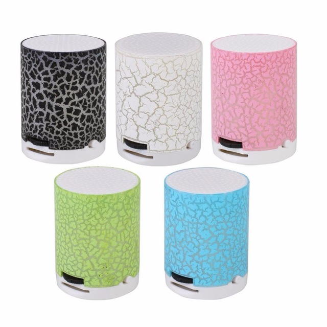 Wireless Mini Rechargeable Speaker LED Crack Support TF Card MP3 Player Gift